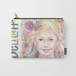 Delilah Whimsical Watercolor Carry-All Pouch
