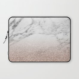 Marble sparkle rose gold Laptop Sleeve