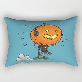 The Skater Pumpkin Rectangular Pillow