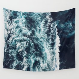 DARK BLUE OCEAN Wall Tapestry