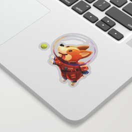 Astronaut Corgi Sticker