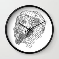 lebron Wall Clocks featuring Basketball King by NEW YORK GORILLUST