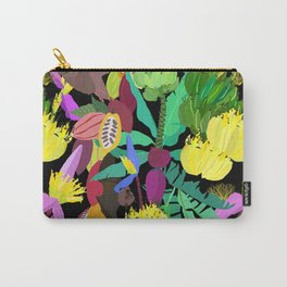 Tropical Fruit Bats in Night Black Carry-All Pouch