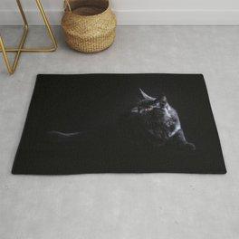 Black Maine Coon Cat Rug