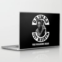 rick grimes Laptop & iPad Skins featuring Rick Grimes & .357 Magnum by SwanniePhotoArt