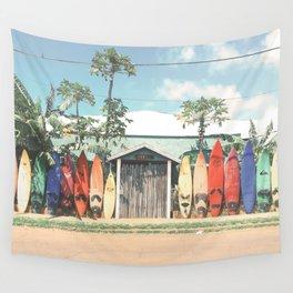 Surfboards Maui Hawaii Wall Tapestry