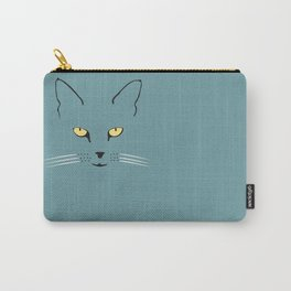 Cat with yellow eyes Carry-All Pouch