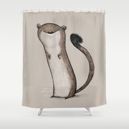 Weird Weasel Shower Curtain
