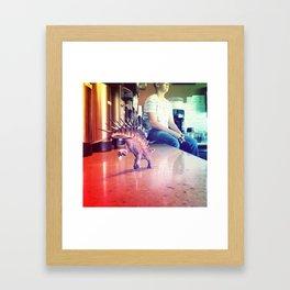 Running Dino Framed Art Print