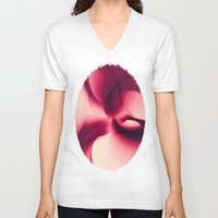 wine V-neck T-shirts featuring Splash of Wine Fractal by Charma Rose