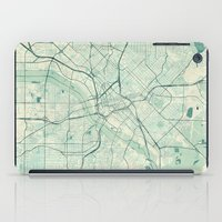 dallas iPad Cases featuring Dallas Map Blue Vintage by City Art Posters