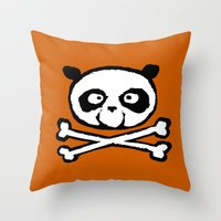 logo Throw Pillows featuring Logo by Bouletcorp