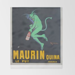 Vintage poster - Maurin Quina Throw Blanket