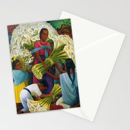 Classical Masterpiece 'The Flower Vendor' by Diego Rivera Stationery Cards