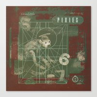 pixies Canvas Prints featuring Pixies - Doolittle by NICEALB