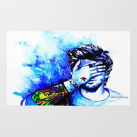zayn Area & Throw Rugs featuring Zayn #1 by dariemkova