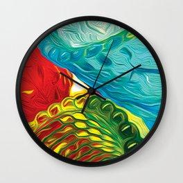 Sunlit Glass Wall Clock