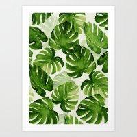 tropical Art Prints featuring TROPICAL by judith van den hoek