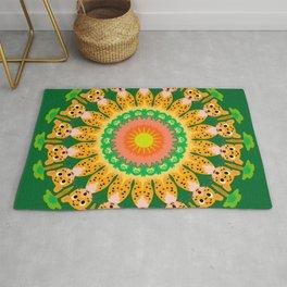 Cheetah Sunshine Mandala Design Rug