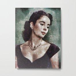 Elizabeth Taylor by MB Metal Print