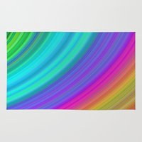 rainbow Area & Throw Rugs featuring Rainbow by David Zydd