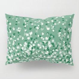 Floating Confetti Dots - Evergreen Pillow Sham