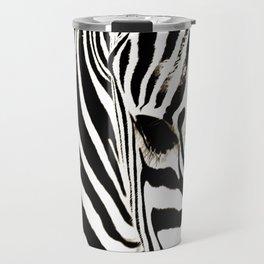 Zebra-Black and White Travel Mug