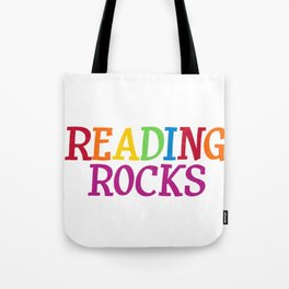 Reading Rocks Students Teachers Tote Bag