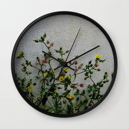 Minimal flora - yellow daisies wild flowers Wall Clock