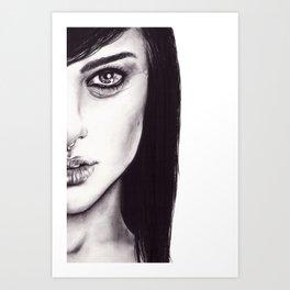 Under Your Bed (Natalie Portman)  Art Print