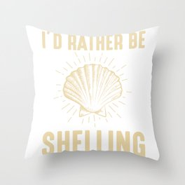 Sea Shell lover Seashell collector Beach Coast Throw Pillow