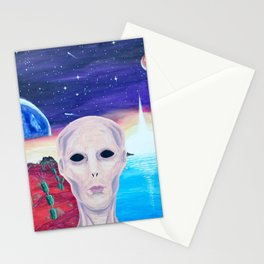 Life On Another Planet Stationery Cards