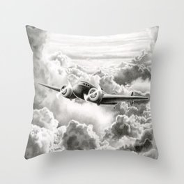 Ghost Flight- Amelia Earhart  Throw Pillow