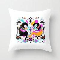 hocus pocus Throw Pillows featuring Hocus Pocus! by Muxxi
