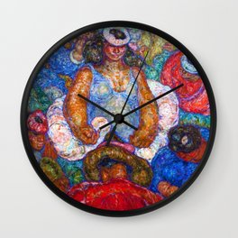 Lei Queen Fantasia by Cornelia MacIntyre Foley Wall Clock
