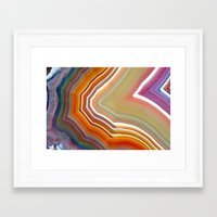 agate Framed Art Prints featuring AGATE by Stephanie Hill
