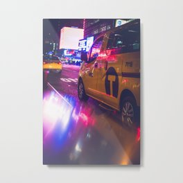 Taxi NYC Life (Color) Metal Print