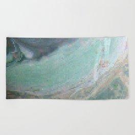 Saturn Infrared Beach Towel