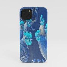 New Chick On The Block In Blue iPhone Case