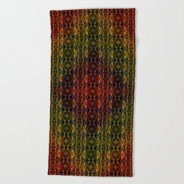 Kaleidescape Pattern Beach Towel