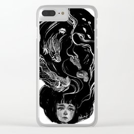 Gigantic Monsters Clear iPhone Case