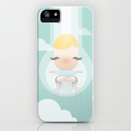 Relaxing Angel iPhone Case