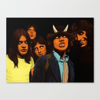 acdc Canvas Prints featuring ACDC by DeeDoubleU