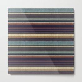 """""""Blue lines burlap"""" Metal Print"""