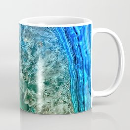 Turquoise Green Agate Mineral Gemstone Coffee Mug