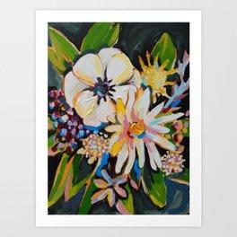 Cornelius - Cream and Forest Art Print