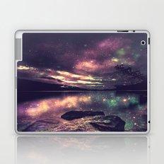 Magical Mountain Lake : Eggplant Teal Laptop & iPad Skin