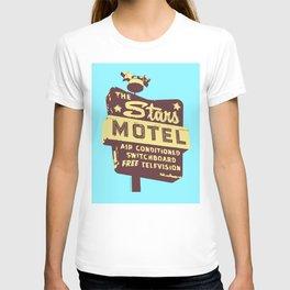 Seeing Stars ... Motel ... (Blue Background) T-shirt