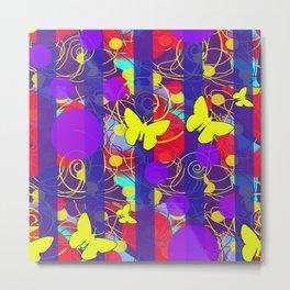Happy Spring Pattern Metal Print