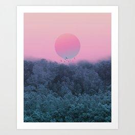 Landscape & gradients IV Art Print